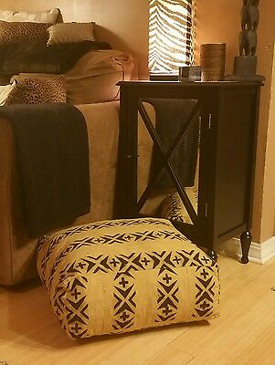 Hand sewn African Mud cloth Floor Pouf/Pillow--
