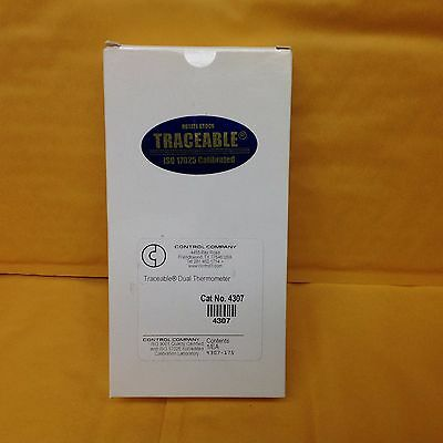 Traceable Digital Thermometer, Dual, Control Company 4307, NEW IN BOX