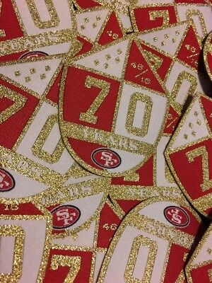 San Francisco 49er 70th Anniversary Team Patch With Gold Accents
