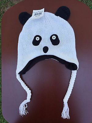 92dc3880997df GIRLS KNIT PANDA Hat with Lining -  8.00
