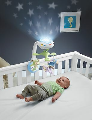 Fisher Price Butterfly Dreams Projection Mobile Cot Toy Night Light For Baby New