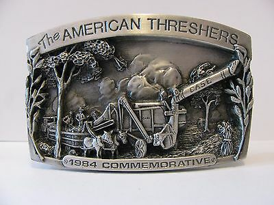 CASE The American Threshers 1984 Pewter Belt Buckle Ltd Ed #391 1st Annual Iowa