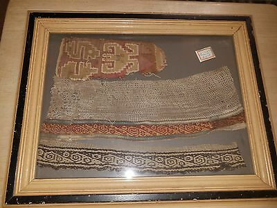 PERU Precolumbian Embroidery Textile PARACAS Culture Swatches
