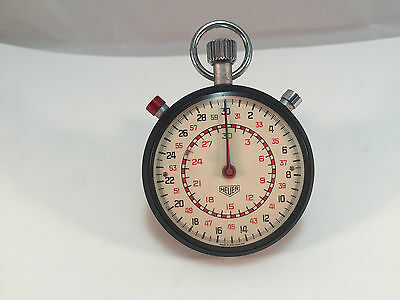 Heuer Vintage Stopwatch - Very Rare - Possible Military - Made in Switzerland