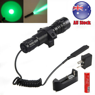 5000Lm Q5 Geen/Red LED Tactical Hunting Flashlight Torch Mount Rifle Gun Rail
