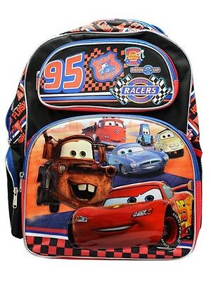 "New Disney Pixar Cars Boys 16"" Canvas School Backpack"