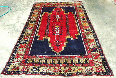RARE GENUINE LARGE ANTIQUE TASPINAR VILLAGE RUG HAND KNOTTED PILE RUG  Circa1920