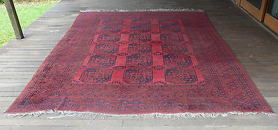 GENUINE LARGE ROOM SIZE SEMI-ANTIQUE SULEYMAN TURKOMAN MAIN CARPET 1960s