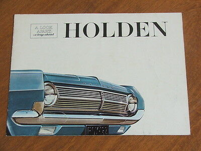 1965 HD Holden original Australian 16 page brochure - Acceptable