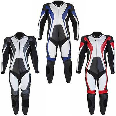 Spada Curve Leather One 1 Piece Suit Race Sports Track Motorcycle Bike Leathers