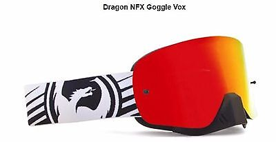 DRAGON NFX FRAMELESS MOTOCROSS GOGGLES NEW Red Ionized Lens&FREE Clear lens MX