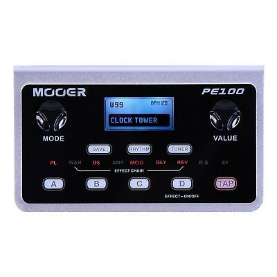 NEW Mooer PE-100 Portable Electric Guitar Multi Effects Unit Processor