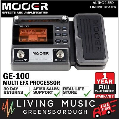 NEW Mooer GE100 Electric Guitar Multi-Effects Processor with Looper, Expression