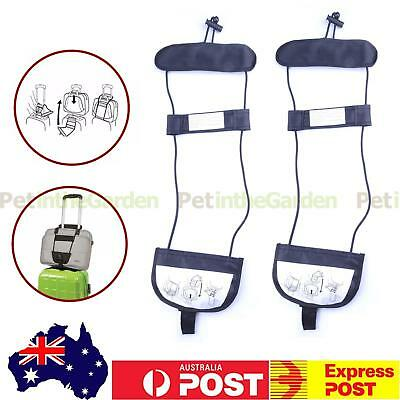 2x Travel Bag Bungee Strap Luggage Trolley Suitcase Backpack Carry On Pack Belt
