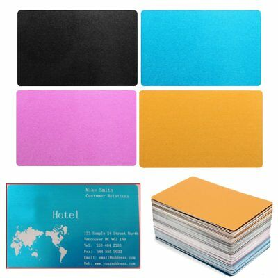 Blank Aluminium Alloy Metal Business Cards Dye Sublimation Printing 84x56x0.17mm