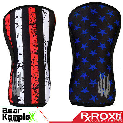 Bear KompleX Knee Support | 5mm | Stars and Stripes | Pair | CrossFit