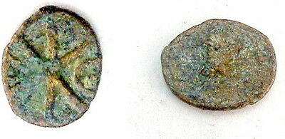 Justin I 518-527 AD Pentanummium Byzantine christian bronze AE coin # BKP1802-12