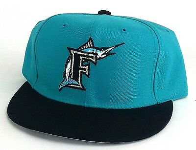 official photos 764c4 00ff7 Florida Marlins New Era 59Fifty Retro Diamond Edition Teal Black Fitted Hat  Cap
