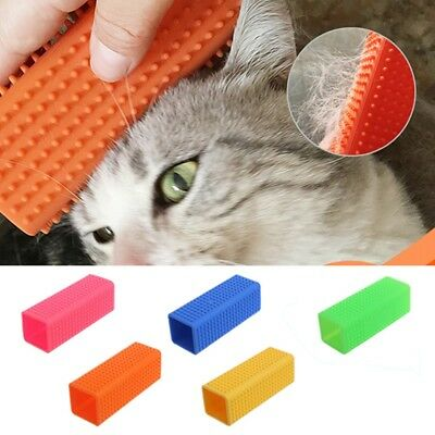 Pet Dog Cat Hair Shedding Remover Grooming Massage Silicone Comb Brush Cleaner