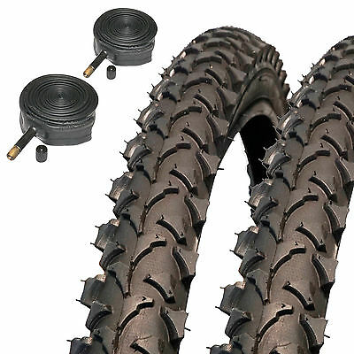 "2x Coyote TY2607N Pro 26 x 1.95"" MTB Mountain Bike Tyres & Schrader Inner Tubes"