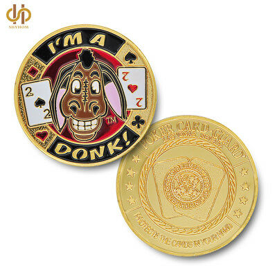 """Entertaining """"I'm A Donk"""" Poker Chip Colorful Casino Challenge Coin Collection"""