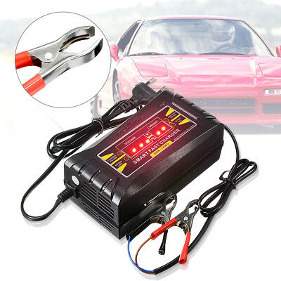 12V 6A Auto Digital Car Motor Smart PWM Fast Trickle Lead-Acid Battery Charger