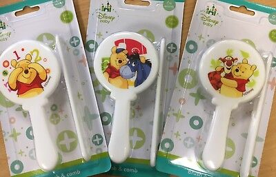 Disney Hairbrush & Comb  Baby Winnie the Pooh and Eeyore Bpa Free 0 Mths+ New