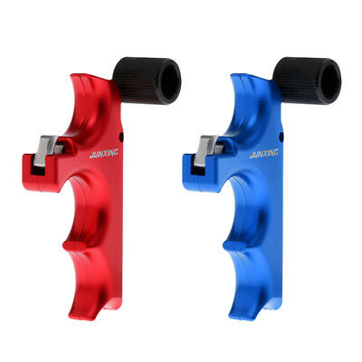 2 Pieces Release Aid Thumb Button 3 Finger Grip Archery Accessory Blue+ Red