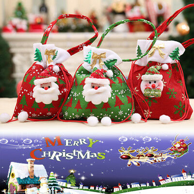 1x Christmas Gift Handbag Candy Bag Merry Christmas Candy Bags Xmas Decor .*
