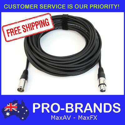 20M 120 Ohm 3 Pin DMX Lighting Interconnecting XLR Patch Cable Lead Cord Wire