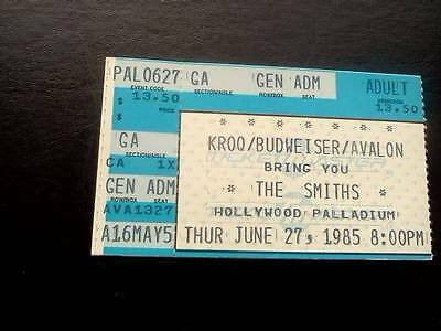 The Smiths  ticket Hollywood Palladium Los Angeles 27/06/85