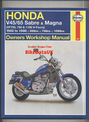 Honda VF750S VF750C (1982-1988) Haynes Shop Manual Book VF 750 1100 C S V45 V65