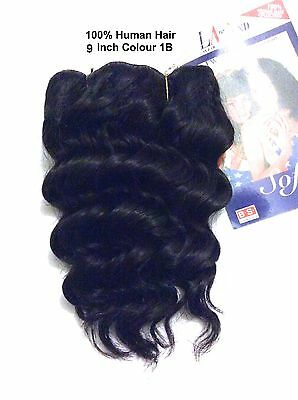 100% HUMAN HAIR - LA TREND 9 inches WET and WAVY French Weaves