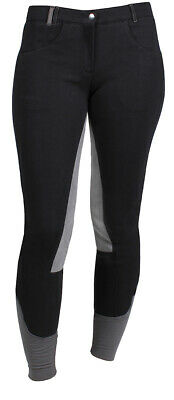 RED HORSE Childrens Cotton Knit Breeches With Full Leather Seat - 'Hannah'