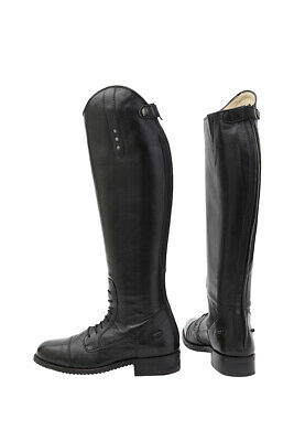 HORKA Luxury Leather Sheepskin Lined Riding Boots - Excellent - Black