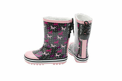 HORKA Thermo Kids Rain Boot - Lily - Anthracite