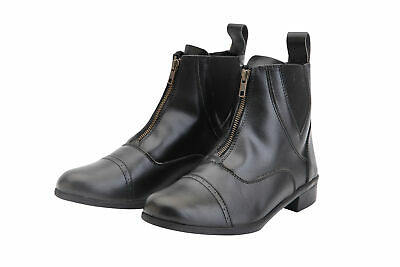HORKA Synthetic Leather Jodhpur Short Riding Boots - Front Zip