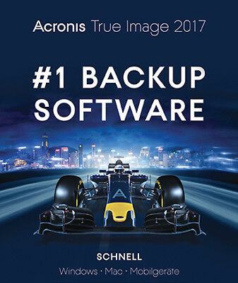 Acronis True Image 2017 3 Geräte Dauerlizenz,PC/Mac Download