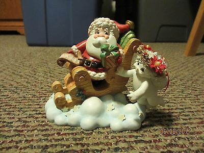 Dreamsicles Angel Cherub #11849 Evening Flight Christmas Santa