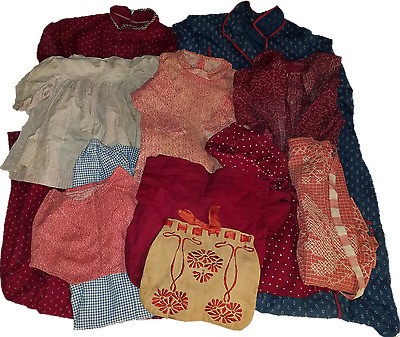 15  pieces of Antique American calico & homespun clothing from 1880-1920.
