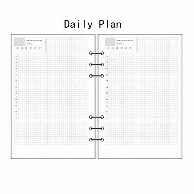 A5/A6 Daily Planner Diary Insert Refill Schedule Organiser Plan 45Sheets Note #