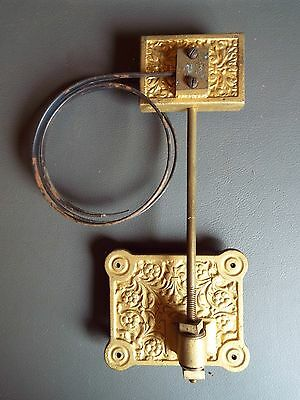 Vintage ornate clock chime gong with 2 metal coils & fixing screws spares parts