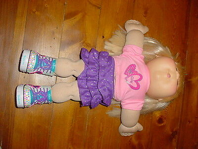 Cabbage Patch Doll Blonde / Brown Eyes c/w Twinkle Toes Light-Up Sparkle Shoes