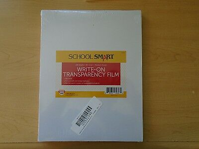 SCSP-631839-School Smart 8-1/2 x 11 Medium-Weight Write-On Transparency Film 100