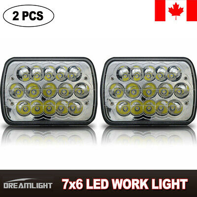 5x7 7x6 LED Headlights Replacement Jeep fit toyota XJ YJ 4Runner (pair) DRL 45W