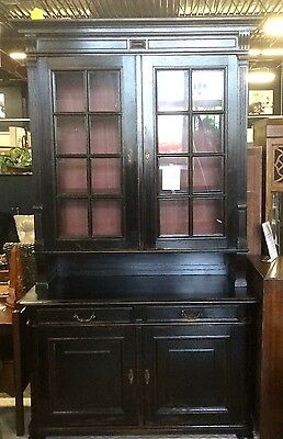 Antique Rare Huge Black Cabinet Marked From Liechtenstien Royal Family Castle