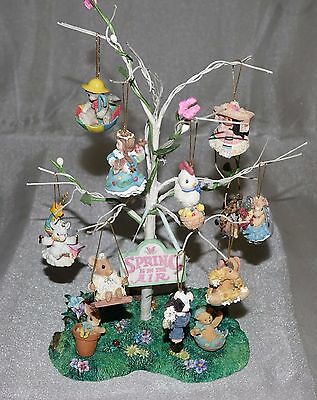 'Spring is in the Air' by Enesco 12 piece mini-ornament collection w/Display NEW
