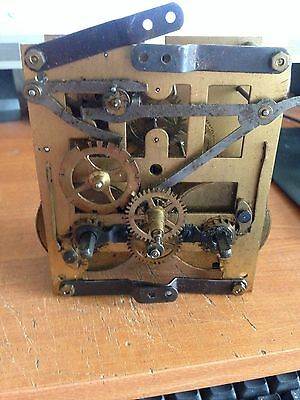 antique german clock movement 2 hole perfect working order