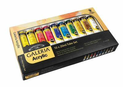 Winsor And Newton Galeria Acrylic 10 X 20ml Artists Paint Tube Set