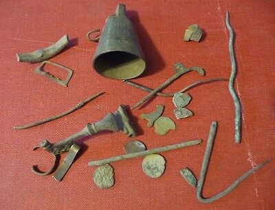 Ancient Bronze Artifacts/ Balkans Lot Of Misc Items #a